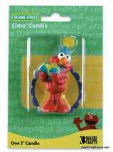 Elmo Sesame Street Party CAKE Topper Decoration CANDLES kit Birthday Cup... - $8.86