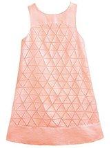 Big Girls Tween Geometric Burnout Devore Satin A-Line Shift Dress, Apricot, 1... - $57.42