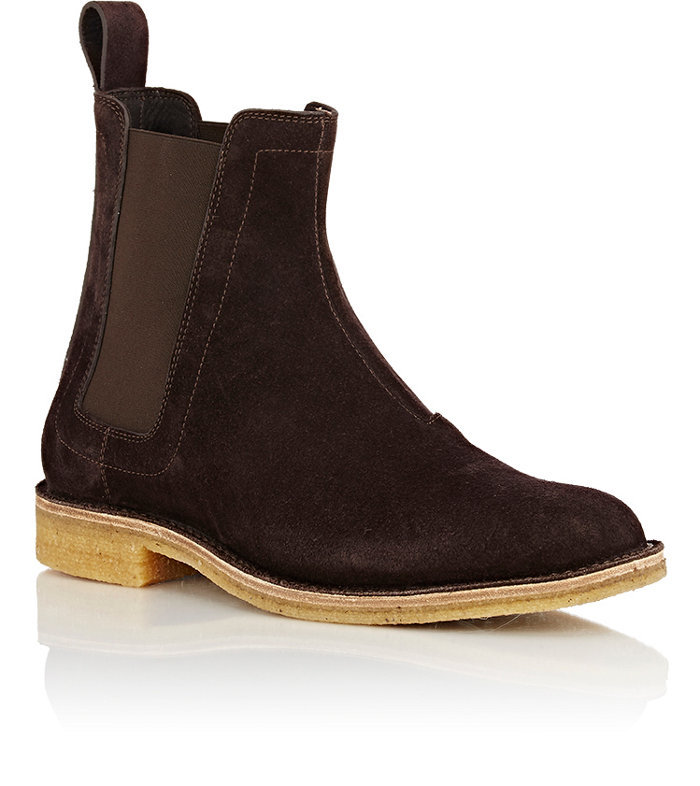 Handmade mens chelsea suede leather boots, Mens brown chelsea suede boots