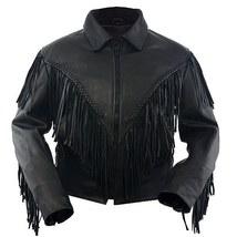 Womens Leather Ladies Fringe Jacket - $145.00