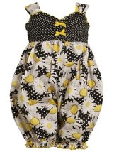 Bonnie Jean Baby Girls 3M-24M Daisy Flower Print Coverall-Romper (24 Months, ...