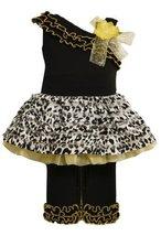 Bonnie Baby-Girls Newborn One Shoulder Ruffle Pant Set (6-9 Months, Yellow)