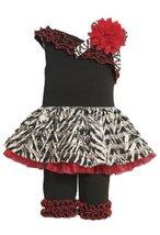 Bonnie Baby-Girls Newborn One Shoulder Ruffle Pant Set, Pink, 3-6 Months