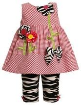 Bonnie Baby Girls Infant Flower Seersucker Legging Set (3-6 Months, Pink)