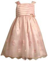 Bonnie Jean Little Girls' Embroidered Dress,Pink,2 [Apparel]