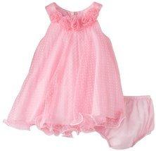 Bonnie Baby-Girls Newborn Pink Crystal Pleat Dress (24 Months, Pink) [Apparel] - $40.19