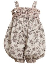 Bonnie Baby-Girls Newborn Butterfly Print Coverall (24 Months, White) [Apparel]