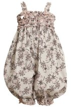 Size-4T, Black/White, BNJ-8590R, Ruffle Butterfly and Floral Print Romper/Cov... - $31.68