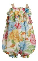 Bonnie Jean Baby-Infant 3M-24M Bold Floral Print Ruffle Chiffon Romper (3-6 M...