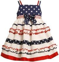 Bonnie Jean Little Girls' Stars and Ribbon Striped Sundress, White, 2T [Appar...