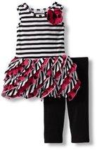 Bonnie Baby Baby Girls' Ruffle Legging Set, Pink, 18 Months [Apparel]