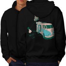 Hippie Bus Sweatshirt Hoody Vintage Van Men Hoodie Back - $20.99+