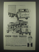 1963 International Harvester Compact Van & Automobile Transporter Truck Ad - $14.99