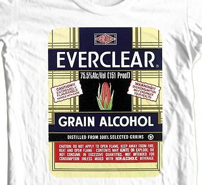Everclear Grain Alcohol T shirt retro vintage 100% cotton graphic tee