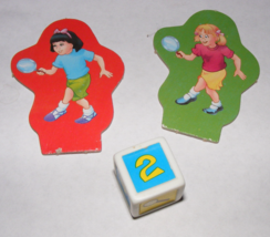 1995 Clue Jr. The Case of the Hidden Toys 2 Kid Movers + Die - $10.00