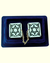 Tallit Talis Clips Prayer Shawl Holder Magen David Engraved Judaica