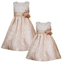 Size 6 Rre 40830 H Metallic Gold Foil Dot Floral Embroidered Crinkle Skirt Spe... - $51.28