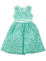 Rare Editions Little Girls Mint Sequin Soutache Social Party Dress (5, Mint-G...