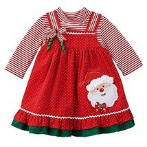 Rare Editions Baby Girls Santa Jumper Set 12 Month Red multi [Apparel]
