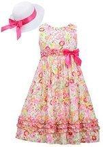 Bonnie Jean Big Girls Easter Dress and Hat Pink Floral 7 [Apparel]