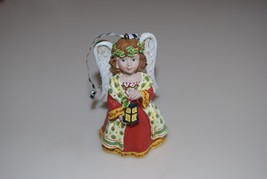 Mary Engelbreit Christmas Angel with Lantern Red Yellow Green Ornament - $19.95