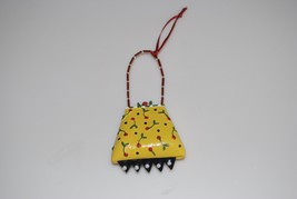 Mary Engelbreit Christmas Yellow Red Cherry Purse Handbag Ornament - $14.95