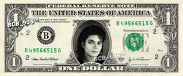 MICHAEL JACKSON on REAL Dollar Bill Cash Money Bank Note Currency Celebr... - $5.55
