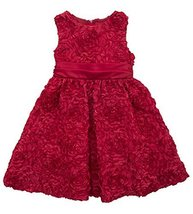 Little Girls 2T-6X Red Bonaz Soutache Social Dress, RD3SP, Red, Rare Editions... - $44.45