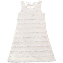 Rare Editions Big Girls' Eyelash Dress, White, 7 [Apparel] - $49.90