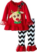 Rare Editions Baby Baby-Girls Infant Reindeer Applique Legging Set (24 Months... - $34.55