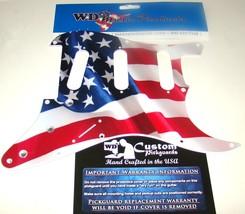 Waving Banner USA Flag SSS Pickguard for Strat® Cut for Floyd Rose® Tremolo - $59.95