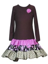 Rare Editions Little Girls' Printed Skirt,Brown,4T [Apparel] - $33.26