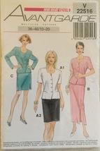 Neue Mode Stil Avantgarde V22516 Misses' Jackets & Straight Skirts Sizes... - $8.99
