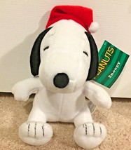 "Peanuts Snoopy in Santa Hat Christmas 6"" Plush Toy Stocking Stuffer - $7.00"