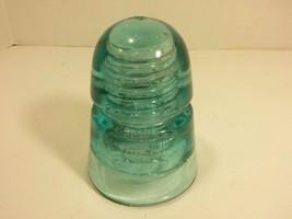 Antique BROOKFIELD S Glass Electrical Insulator (Aqua Blue, Made in USA) - $19.75