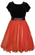 Bonnie Jean Little Girls' Stretch To Lame Skirt Party Dress, Red, 6X [Apparel]