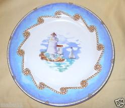 Fitz & Floyd Shore Lights Dinner Plate B Sailboats - $18.80