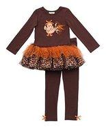 Size-6X RRE-63812 , 2-Piece BROWN Baby Turkey Chick Applique Leopard Pri... - $37.42