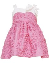 Rare Editions Baby Girls' Coral Soutach Dress, Coral/White, 12 Months [Apparel] - $29.69
