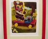 7a fisher price toy teddy xylophone nursery art print limited edition childs decor thumb155 crop
