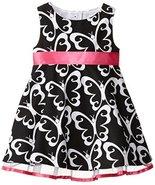 Rare Editions Little Girls' Butterfly Print Woven Dress, Black/White, 6 - $36.53