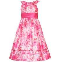 Size-12.5 RRE-3968E CORAL-PEACH 'Water-Color-Roses' PRINT SHANTUNG Special Oc...