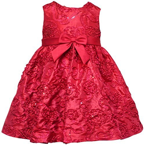 Size-24M RRE-52941H 2-Piece RED SEQUIN SOUTACHE TAFFETA Special Occasion Wedd...