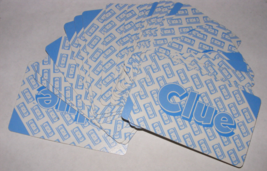 1985 Clue VCR Mystery Game 28 Blue Clue Cards - $8.00
