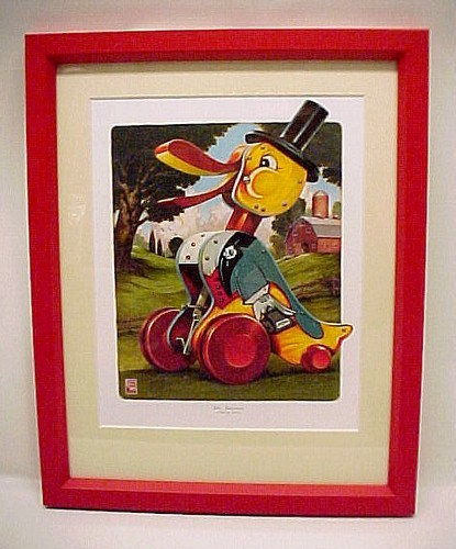 86661a fisher price toy dr. doodle nursery art print limited edition childs decor