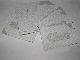 1985 Clue VCR Mystery Game 18 Gray Investigation Cards - $8.00