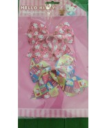 Sanrio Hello Kitty Girls Hair Bows Set Barrettes , New with Tags  - $10.99