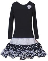 Rare Editions Girls 2-6x Multi Print Skirt (6, Black) - $36.04