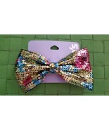 Multi Colored Rainbow Sequin Hair Bow , New With Tags  - $10.99