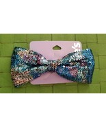 Blue, Purple & Silver Sequin Hair Bow , New With Tags  - $10.99